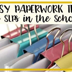 Easy paperwork tips for SLPs in the schools