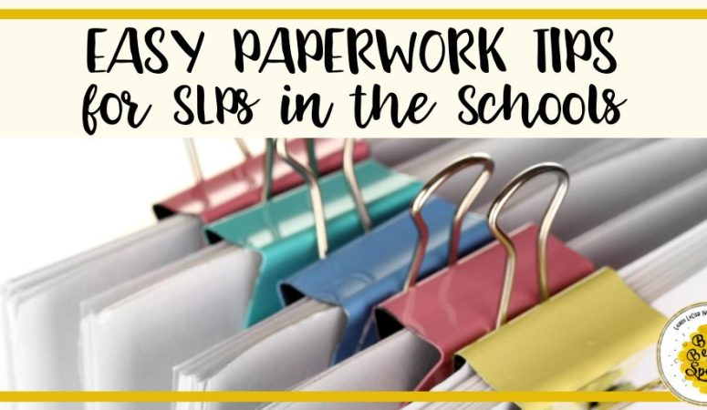 Easy Paperwork Tips for  SLPs in the Schools