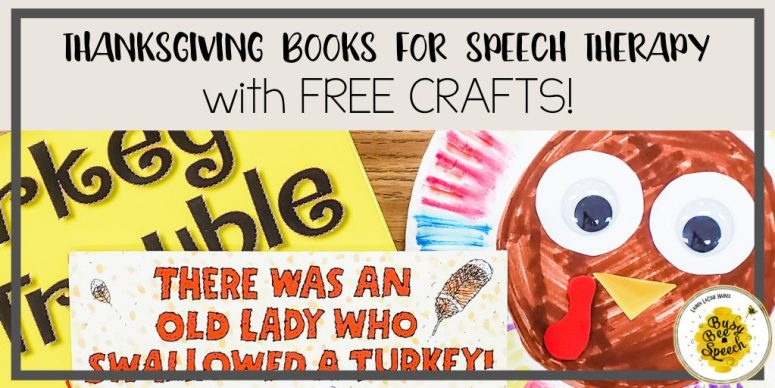 Thanksgiving books for speech therapy