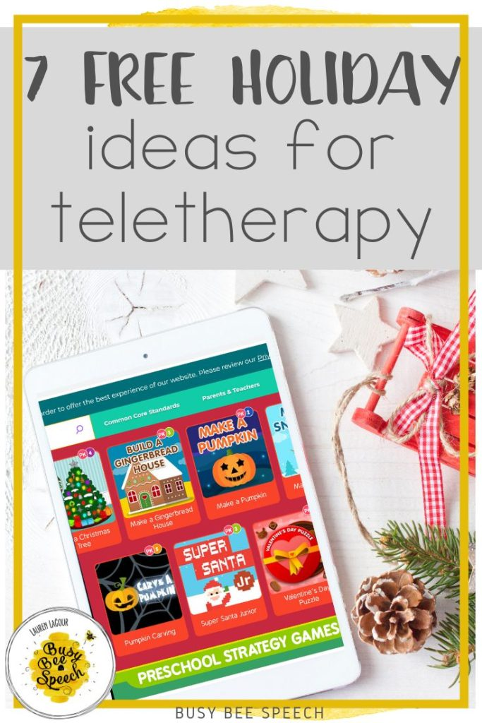7 free holiday ideas for speech teletherapy