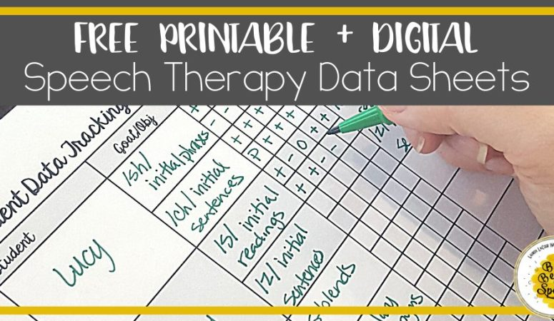 Free Printable + Digital Speech Therapy Data Sheets
