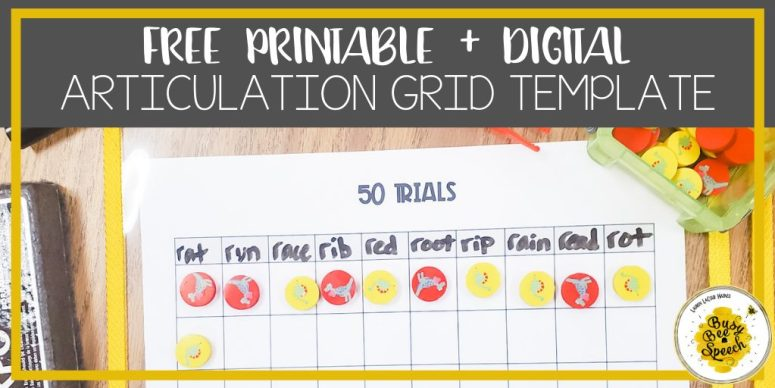 Free articulation printable and digital template