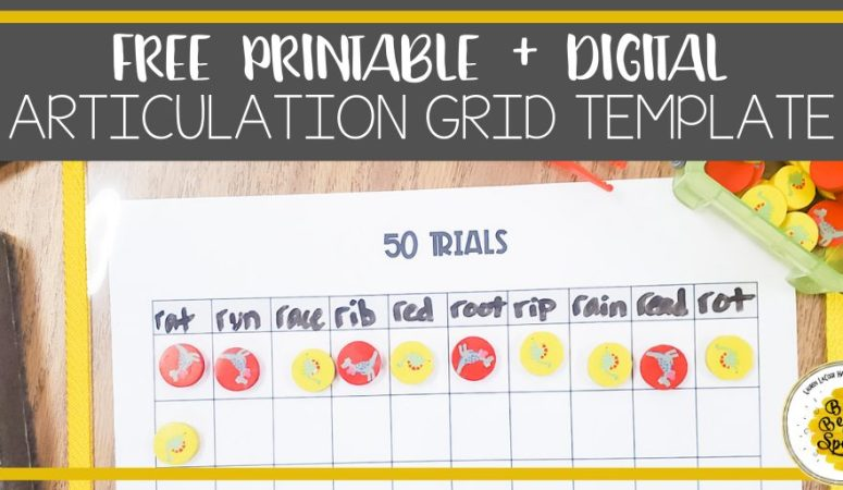 Free articulation printable + digital grid template