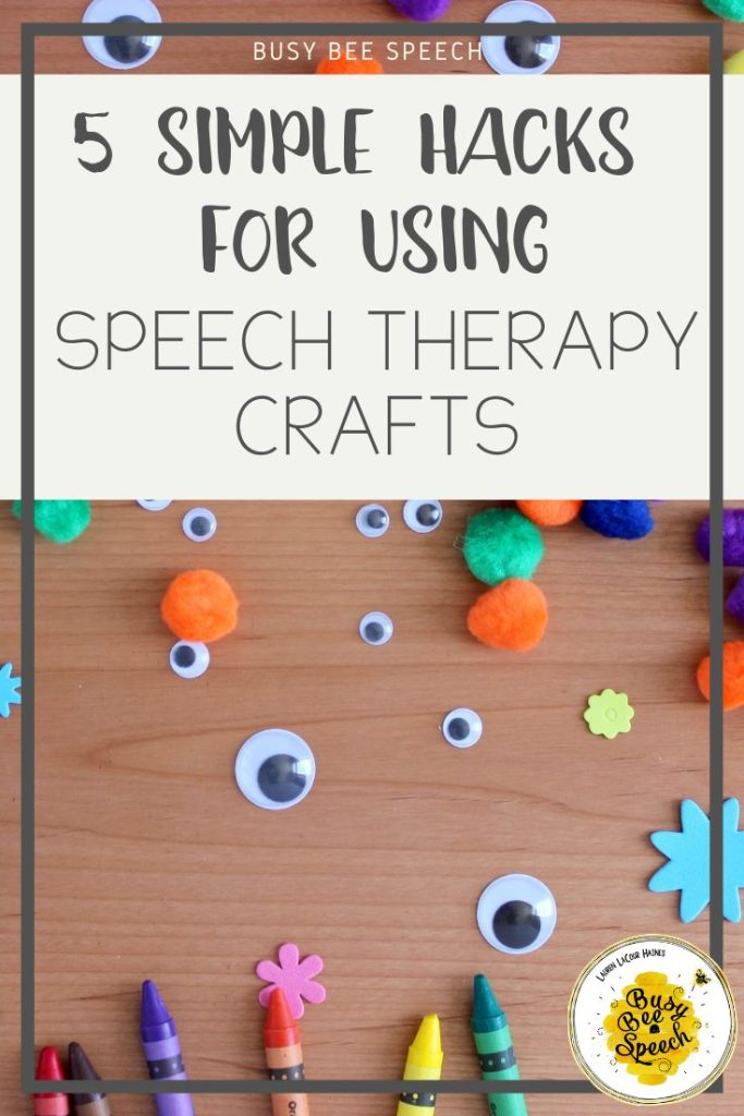 Check out these 5 easy ways to use speech therapy crafts to target any goal!  Plus done for you craft ideas!