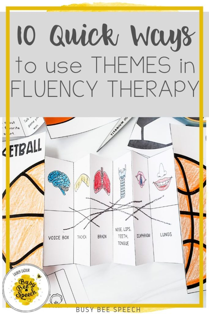 10 Quick ways to use themes in fluency therapy