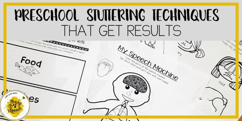 Preschool stuttering therapy techniques that get results