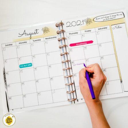 SLP planning calendar