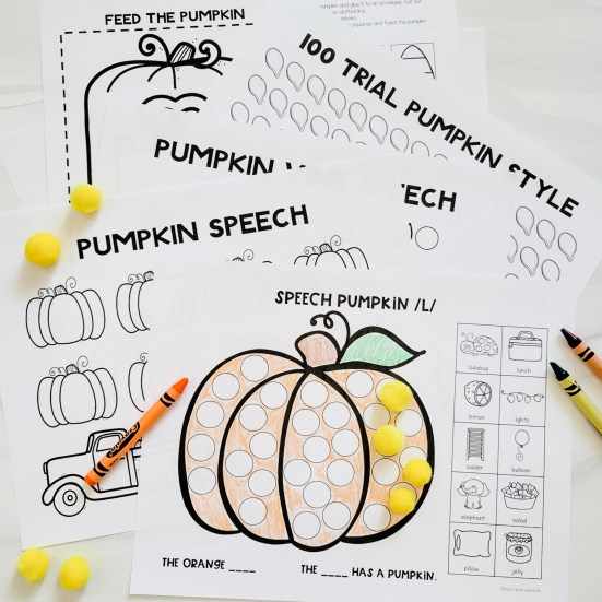 pumpkin worksheets for speech therapy