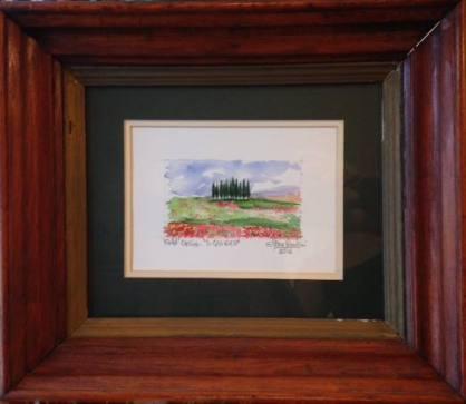 poppy framed pic