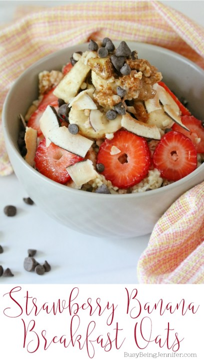 Strawberry Banana Breakfast Oats