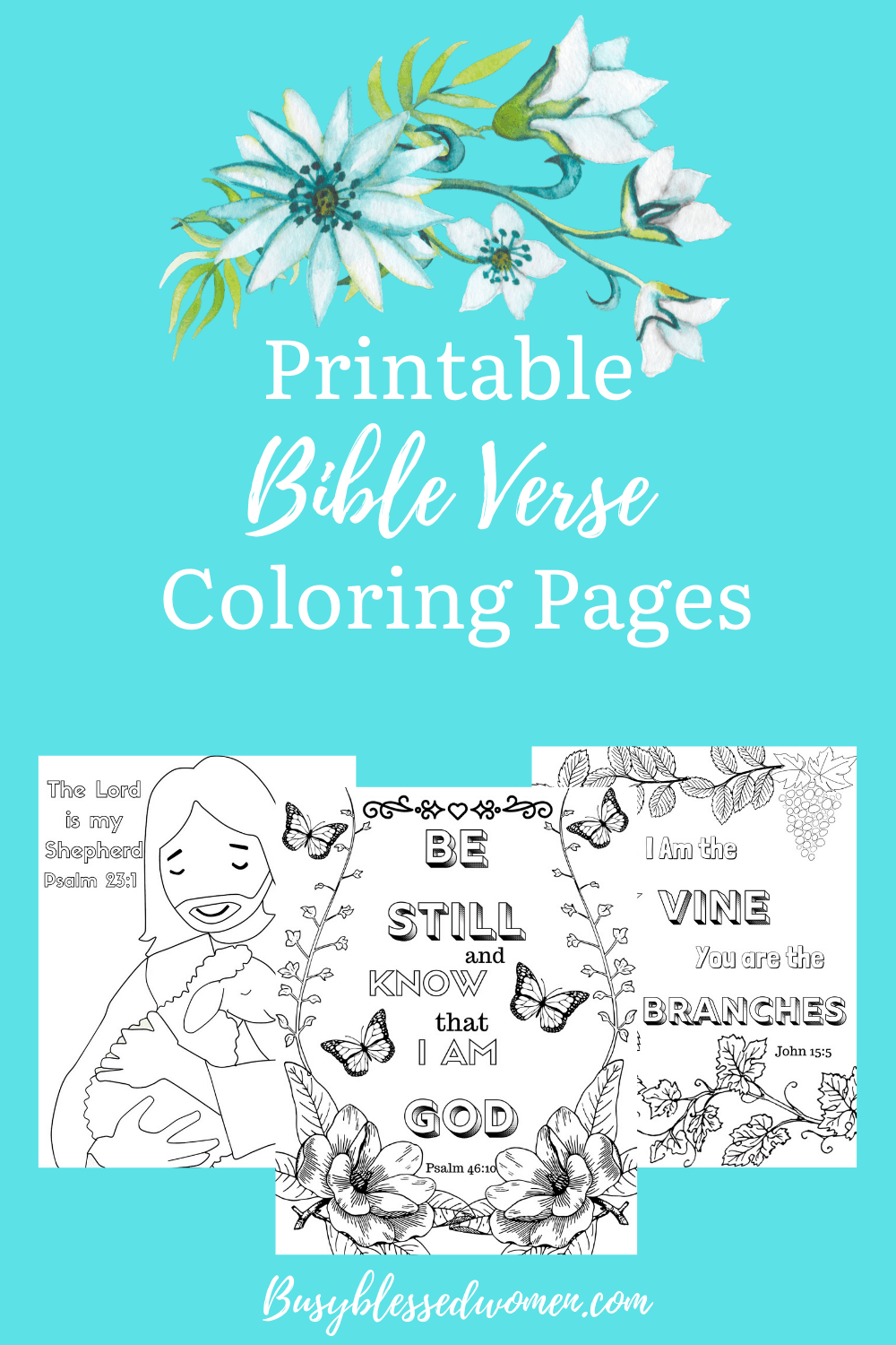 Printable Bible Verse Coloring Pages - Busy Blessed Women