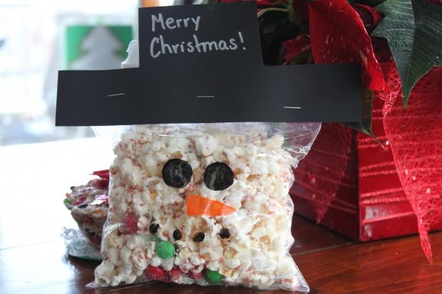 Snowman Christmas Popcorn