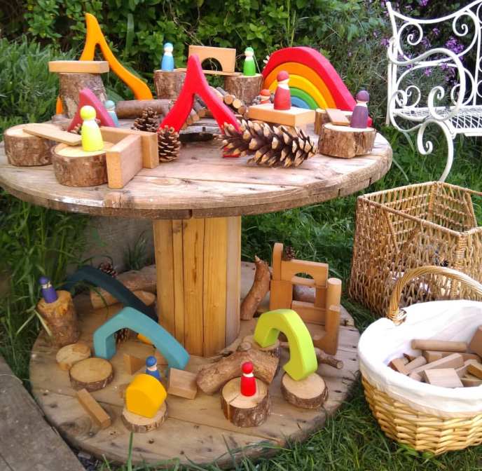Garden of Our Dreams - Small World - Fine motor skills - messy play - outdoors - gardening - play - early years - imagination