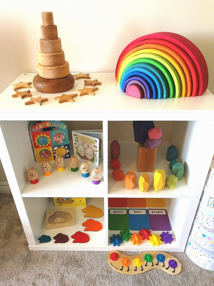 Shelfie - early years - toddler play - Grapat - Grimms - Hape - Melissa & Doug - Ocamora - Wooden Toys - Feelings - Emotions - Construction - Stacking- Mindfulness - Puzzles - Jigsawa - Colours - Matching - Language - Words