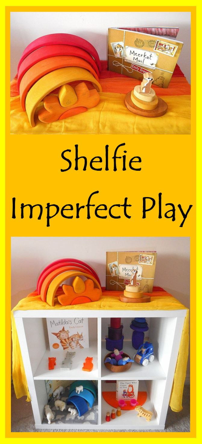 Shelfie - early years - toddler play - Preschooler - Grimms - Grapat - Eric&Albert - books - stories - Ocamora - Wooden Toys - Construction - Stacking- Mindfulness - Puzzles - Colours - Rainbow - Matching - Language - Words - Loose Parts - Summer - Stories