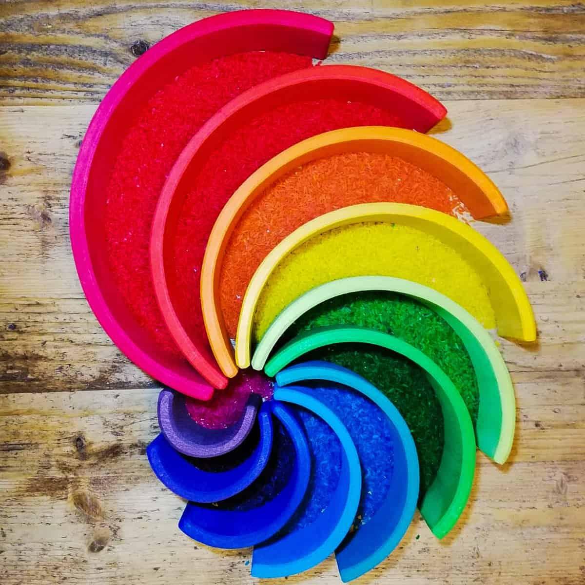 Creative play, colour play, toddler ideas