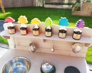Wish list for the perfect toddler garden. What spaces to create and resources to get. First in a series of blog posts. Water play, mud kitchen, mark making, small world, hedgehog house, planting, tuff tray, herb garden, trees, bug hotel, den building, book Nook.