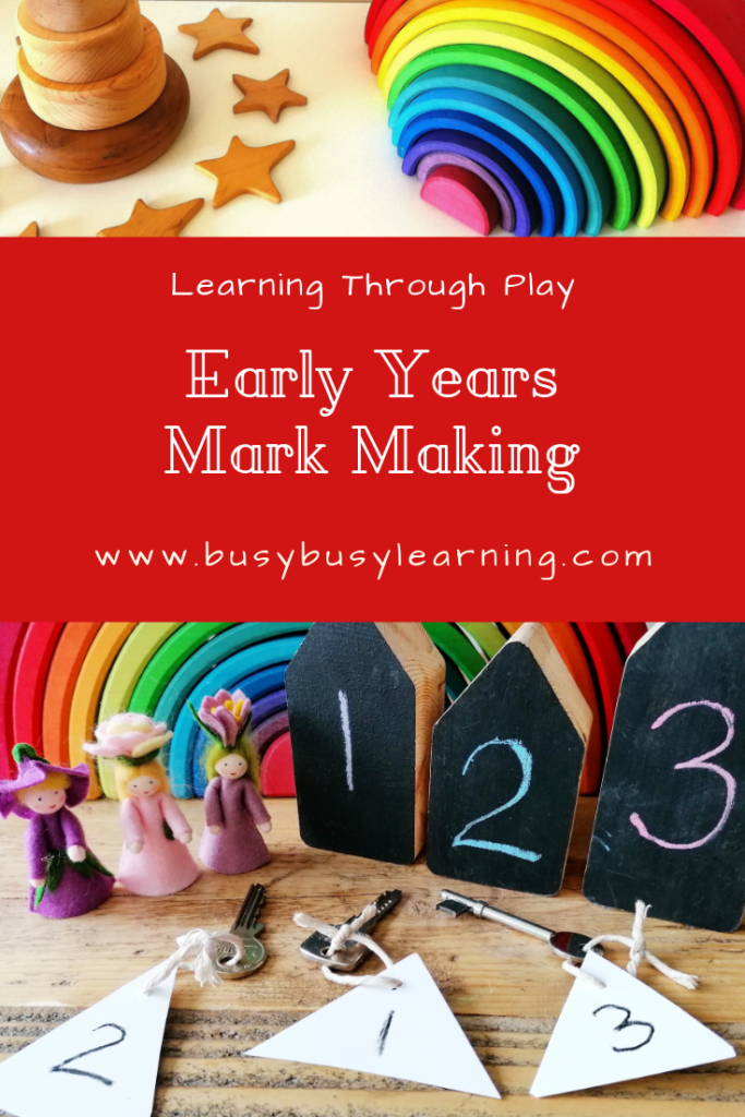 Mark making - early writing - role play - small world play - chalk houses - kerris childminding - mark making resources