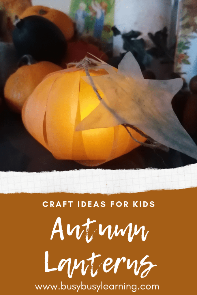 Autumn arts and crafts - autumn lanterns - pumpkin lantern and silhouette lantern for your nature table or seasonal display. Fall craft ideas - squirrel - hedgehog - pumpkin.- waldorf inspired - woodland creatures - september - october