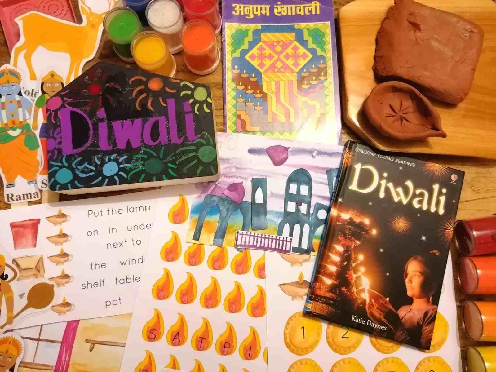 Diwali - diwali celebrations - 2019 - celebrations - festivals - diva lamp - Rangoli patterns - Rama and Sita - early years - topic ideas and themes