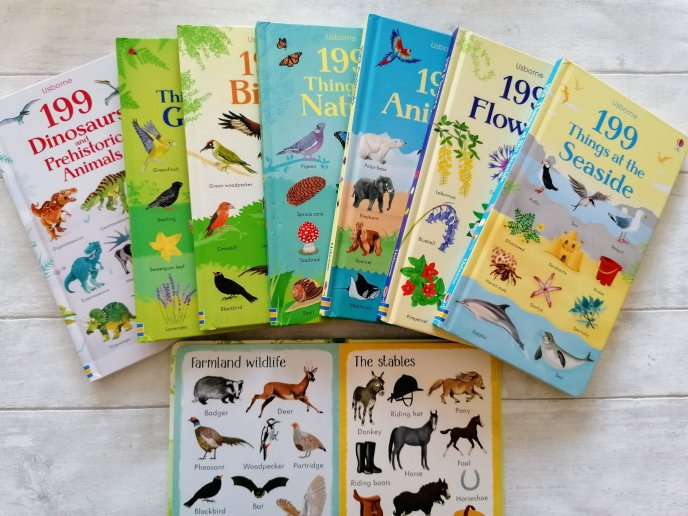 Collection of 199 Usborne books - spotters guides