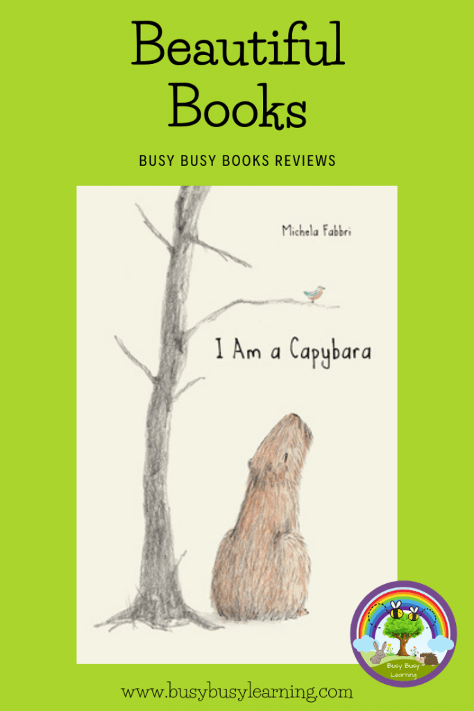 I Am A Capybara book front cover for book review blog post