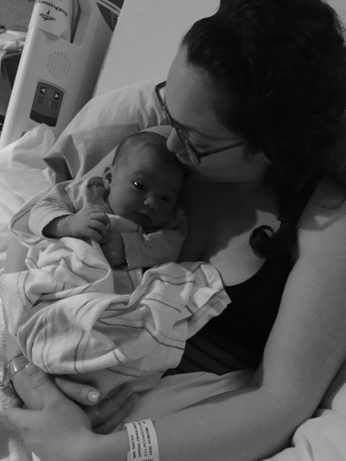 izzy and mommy in hospital