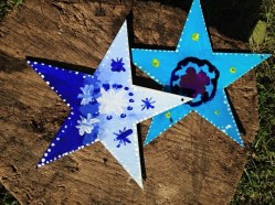 Primary school children painted stars..