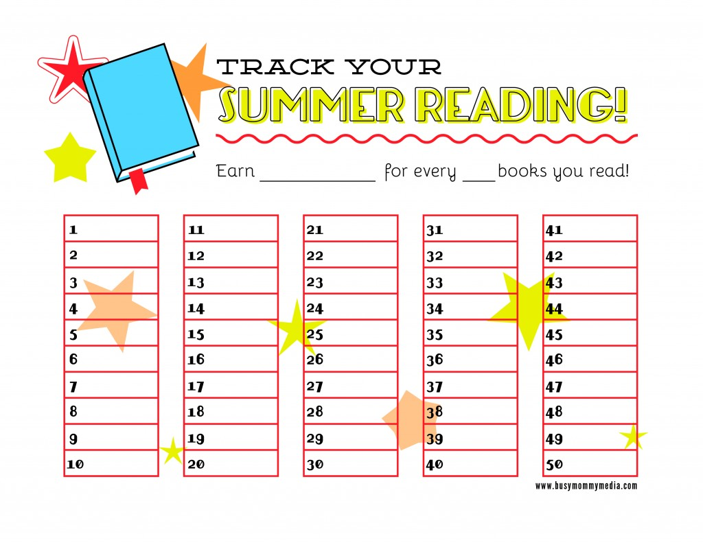 Homeschool Parent Free Printable Summer Reading Chart