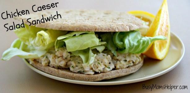 Chicken Caeser Salad Sandwich / Busy Mom's Helper