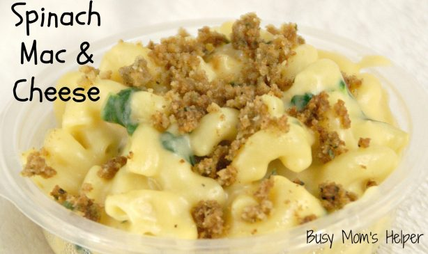 Homemade Spinach Mac & Cheese / Busy Mom's Helper