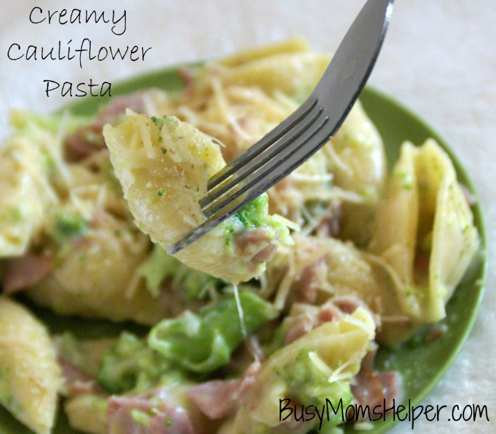 Creamy Cauliflower Pasta / Busy Mom's Helper
