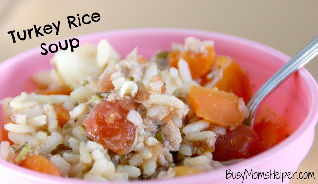 Turkey Rice Soup / Busy Mom's Helper