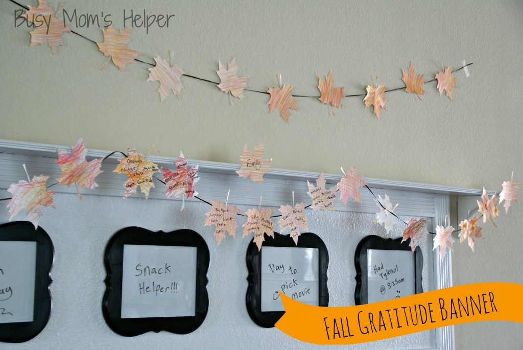 Fall Gratitude Banner with Free Printable Pattern / Busy Mom's Helper
