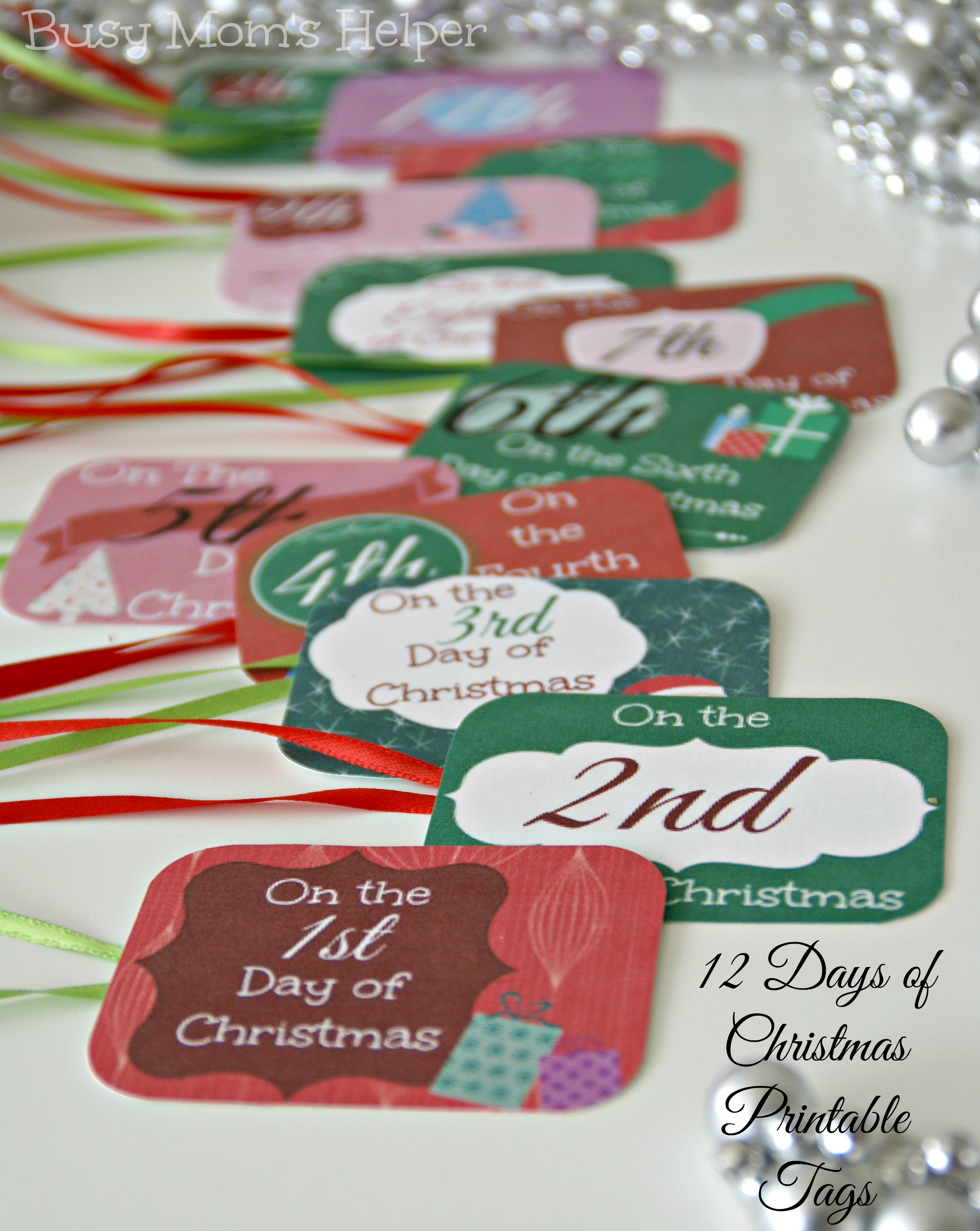 image regarding 12 Days of Christmas Printable identify 12 Times of Xmas Printable Tags - Fast paced Mothers Helper