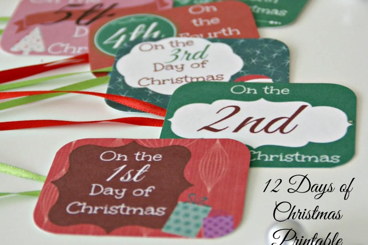 12 Days of Christmas Printable Tags