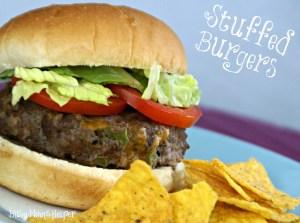 Stuffed Burgers / Busy Mom's Helper