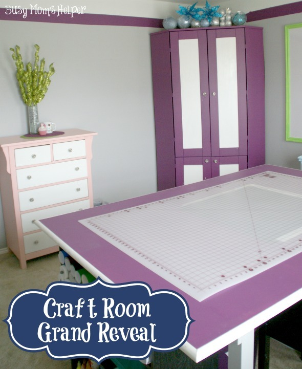 Craft Room Grand Reveal / by www.BusyMom's Helper #craftroom #roommakeover #remodel