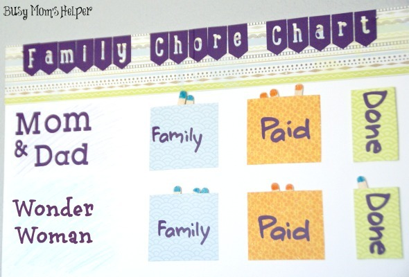 Family Chore Chart / by www.BusyMomsHelper.com #kidschores #jobchart #cleaning