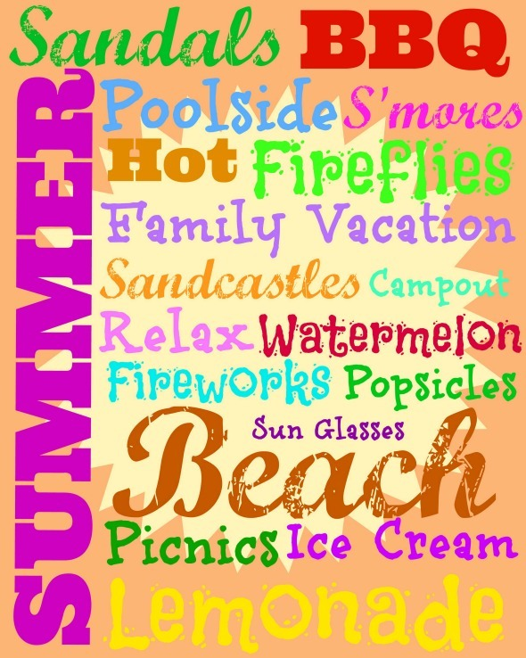Summer Subway Art Free Printable / by www.BusyMomsHelper.com #freeprintable #summer #subwayart