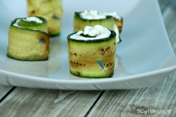 Cheese Filled Zucchini Bites / by www.BusyMomsHelper.com #Zucchini #Veggies #Appetizer #CheeseFilled