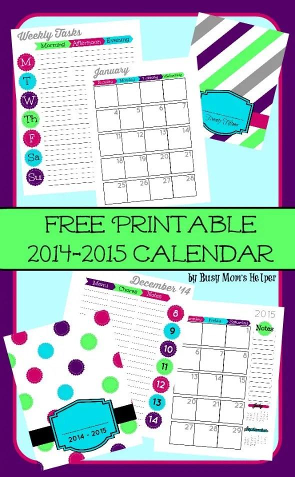 Free Printable 2015 Planner / by Busy Mom's Helper #2015planner #calendar #freeprintable