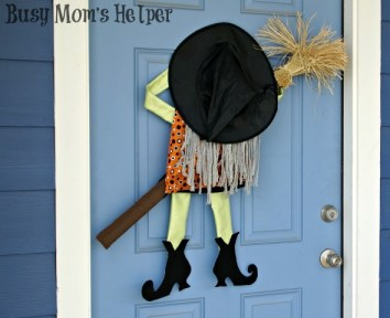 Crashing Witch Door Decor / by Busy Mom's Helper #Halloween #Decor #Witch