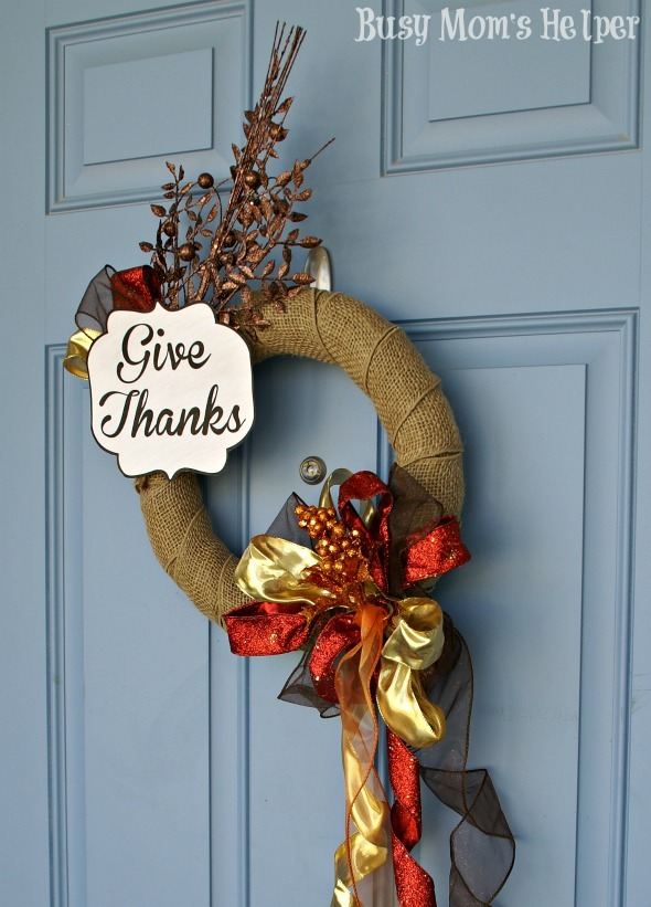 My $3 Fall Wreath Makeover / by Busy Mom's Helper #Wreath #FallDecor #BudgetCraft