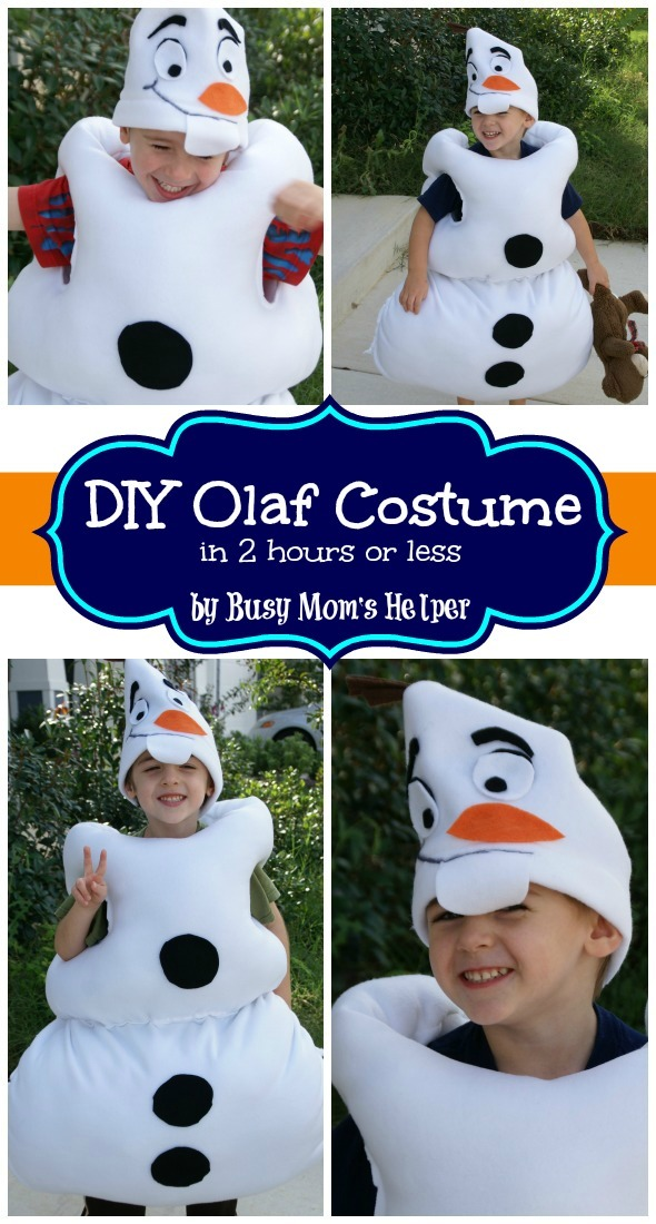 One Size Fits Most White Brown Orange FROZEN OLAF Plush Costume Hat