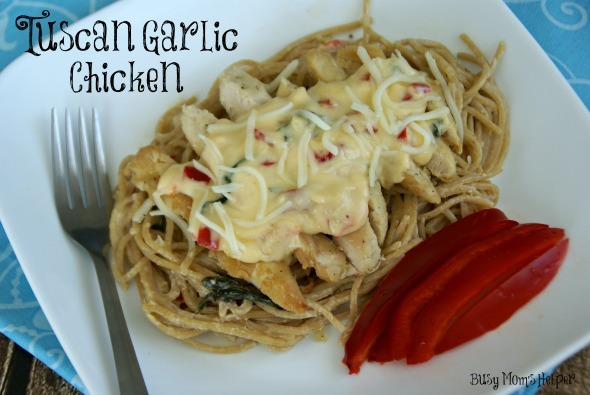 Copy-Cat Tuscan Garlic Chicken Pasta / by Busy Mom's Helper #pasta #olivegarden