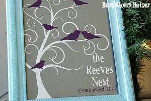 Family Nest Frame Art + HUGE Silhouette Sale / by Busy Mom' s Helper #silhouette #homedecor