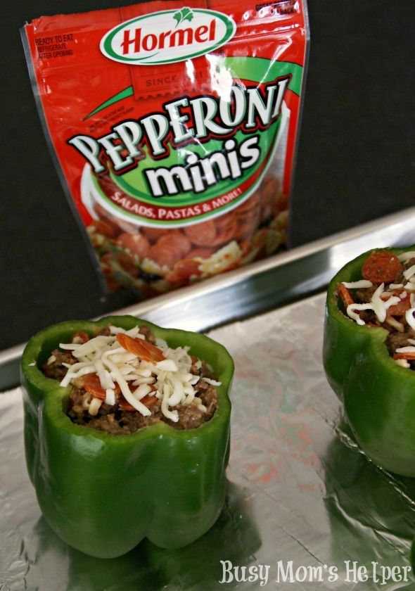 Hormel Pepperoni Stuffed Peppers / by Busy Mom's Helper #PepItUp #Ad