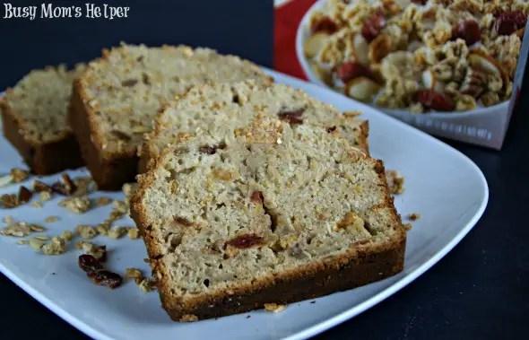 Cherry & Nut Multigrain Banana Bread / by Busy Mom's Helper #LoveMyCereal #QuakerUp #spon