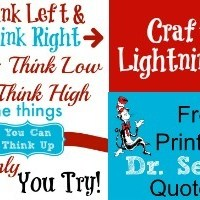 Free Printable Dr. Seuss Quote
